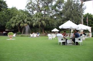 160924 20 Delhi - Claridges front lawn 2 of 2