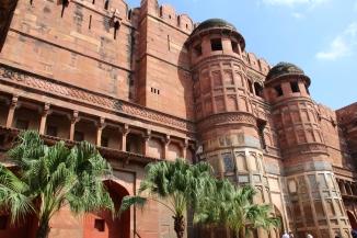161001 024 Agra - Agra Fort - Akbari Darwaza (Akbar's Gate) 1 of 2