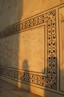 IMG_2797 Agra - Taj site - Taj exterior plant motifs