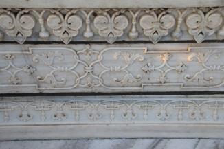 IMG_2798 Agra - Taj site - Taj exterior carving