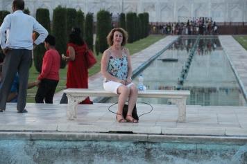 IMG_2830 Agra - Taj site - Ivana on Lady Di seat