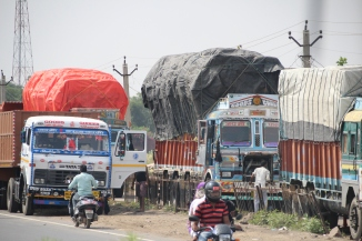 IMG_2982 Loaded trucks en route to Jaipur