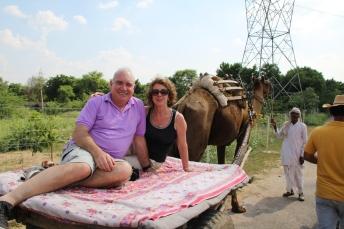IMG_3018 Unmaid Lake Palace - John & Ivana on camel cart