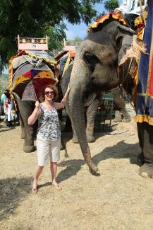 IMG_3156 Jaipur - Ivana with elephant