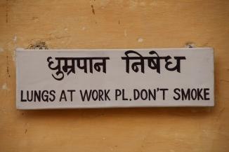 IMG_3585 Jodhpur - Mehrangarh Fort - no smoking sign