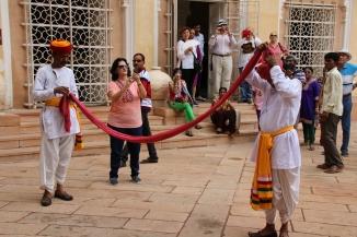 IMG_3591 Jodhpur - Mehrangarh Fort - turban winding demo
